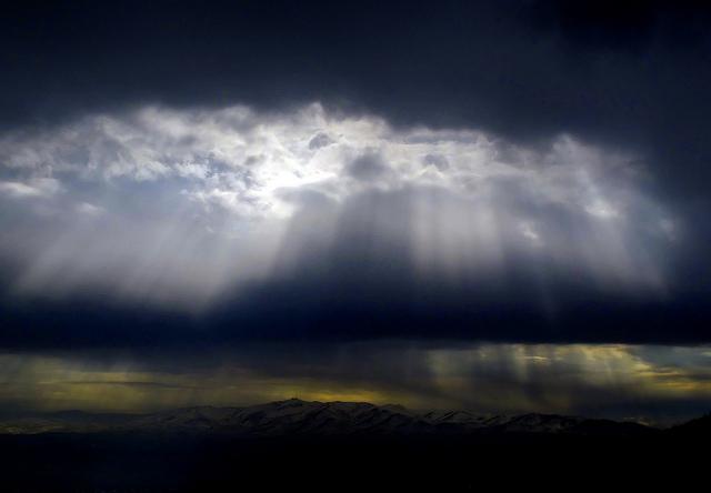 Rain in solar eclipse