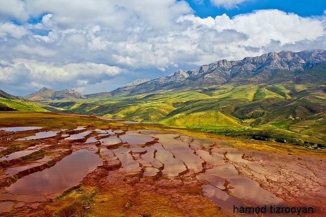 Badab-e Surt's springs - چشمههای باداب سورت