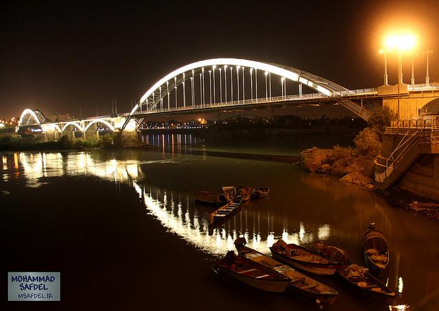 Ahvaz White Bridge (Pole Karoon) - پل س